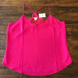 NWT JCrew scallop tank